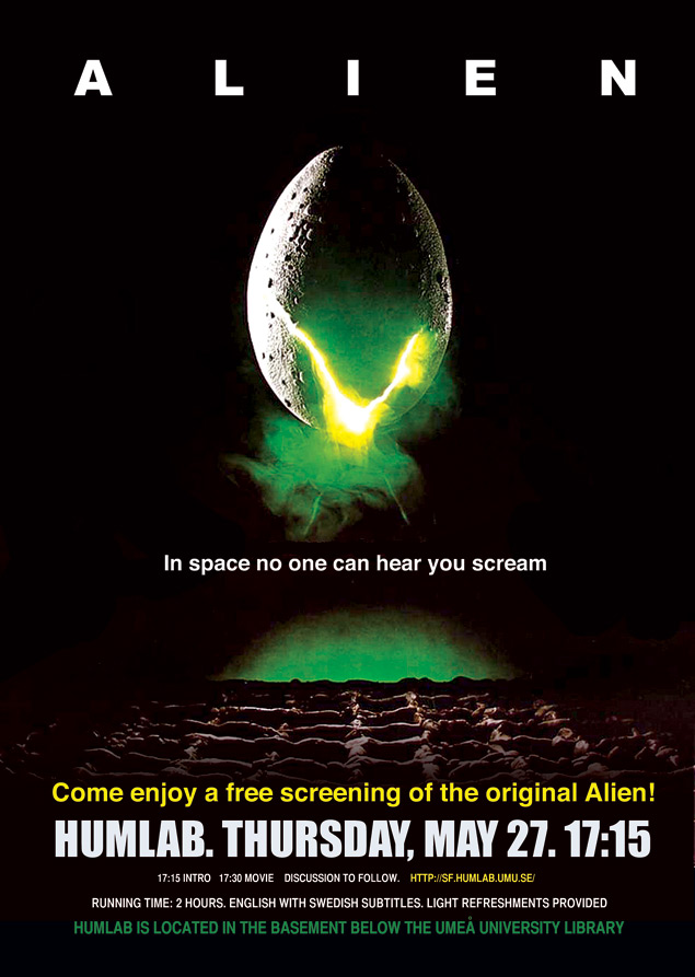 Alien Movie Alien movie screening in